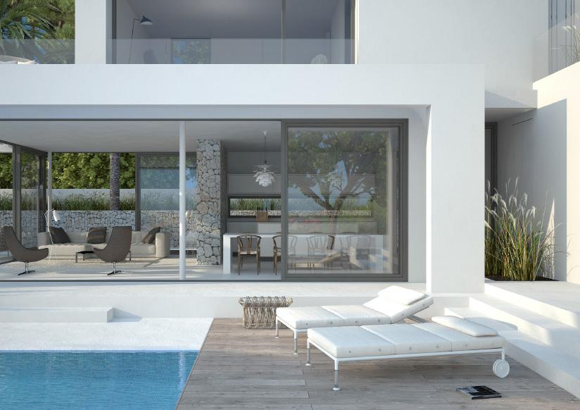 seasites iv ein flie ender bergang zwischen innenraum und poolterrasse seasites. Black Bedroom Furniture Sets. Home Design Ideas